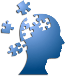 Mind as puzzle illustrating CBT