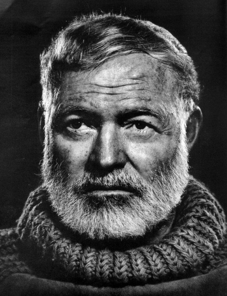 Hemingway - somber portrait
