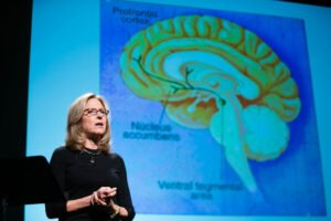 Helen Fisher lecturing on brain temperament and personality type