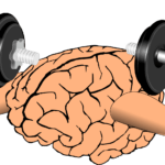 Brain exercise - mental weightlifting