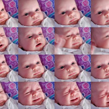 Emotional Faces - panel of babies face expressing different emotions