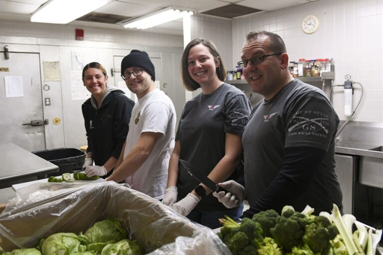 Volunteers at the Jubillee Soup Kitchen