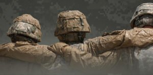 Soldiers mutually supporting each other
