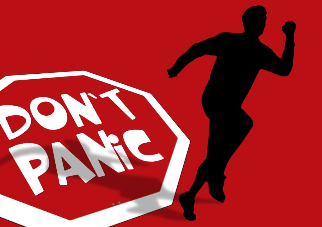 Stop Do Not Panic graphic