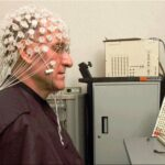 Barry Kerzin meditating with EEG for neuroscience research