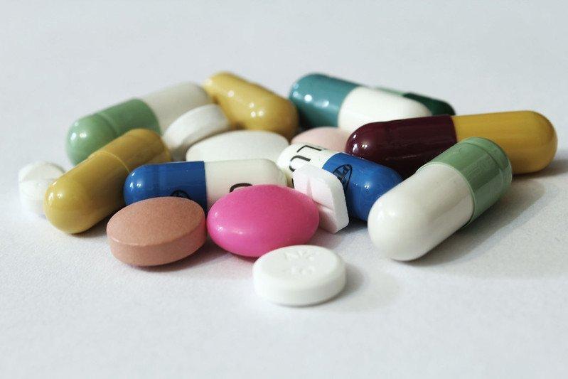 mixed group of pills